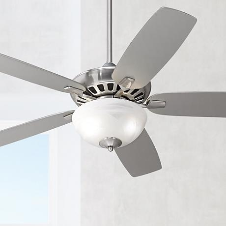 "52"" Casa Vieja Journey Brushed Nickel with Light Ceiling Fan"