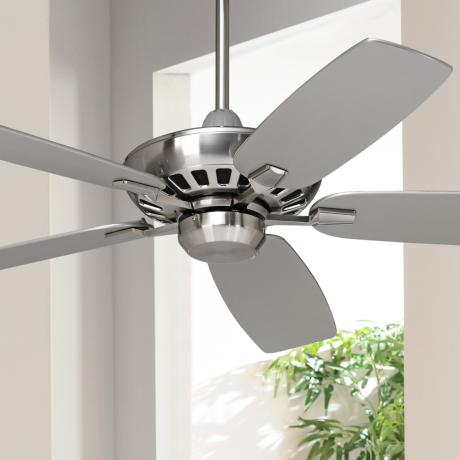 "52"" Casa Vieja Journey Brushed Nickel Ceiling Fan"