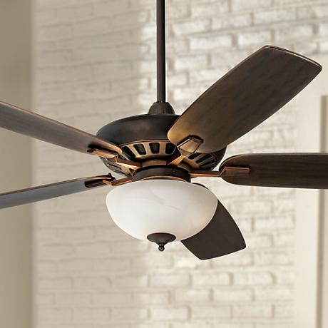 Journey™ Bronze with Opal Glass Light Ceiling Fan