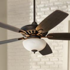 "52"" Journey Bronze with Opal Glass Light Ceiling Fan"