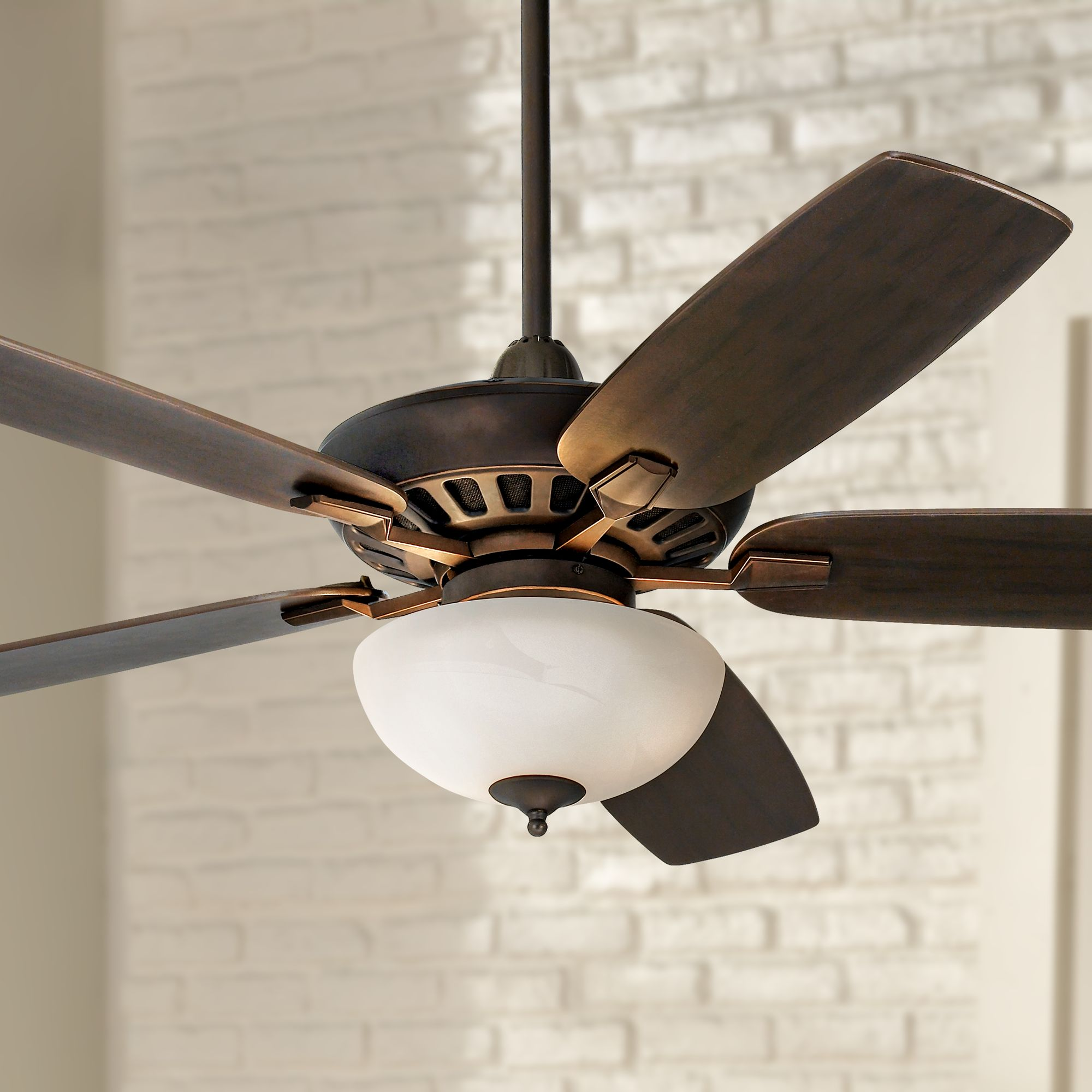 journey bronze with opal glass light ceiling fan