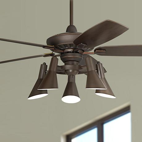"52"" Casa Vieja® Journey Oil-Rubbed Bronze Ceiling Fan"