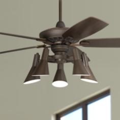 "52"" Casa Vieja™ Journey Oil-Rubbed Bronze Ceiling Fan"