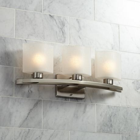 "Possini Euro Design Linen Glass 23 1/2""-W Bath Wall Fixture"