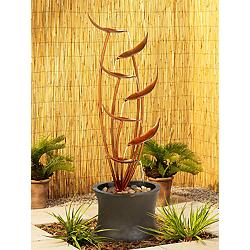 "Tiered Copper Leaves Indoor Outdoor 41"" High Fountain"
