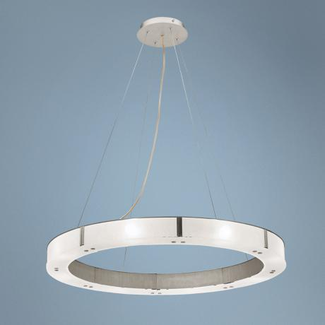 Oracle Aluminum Finish Cable Pendant Chandelier