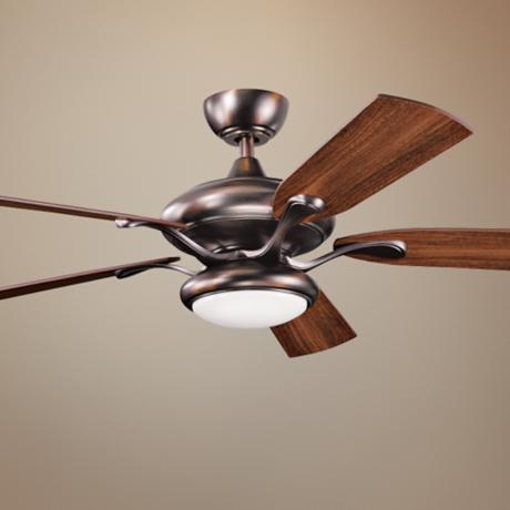 "52"" Kichler Aldrin Oil-Brushed Bronze Ceiling Fan"