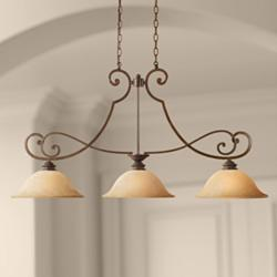 Mendocino Forged Sienna 3-Light Island Chandelier