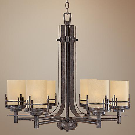 Mission Ridge Warm Mahogany 6-Light Chandelier