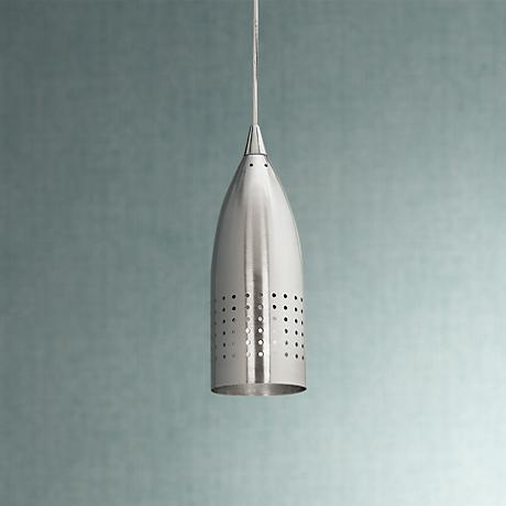 Tomahawk Brushed Steel Finish Pendant Light