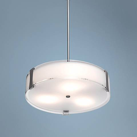 Tara Brushed Steel Semiflush or Pendant Light