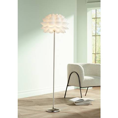 Possini Euro Design White Flower Floor Lamp M4705 Lamps Plus