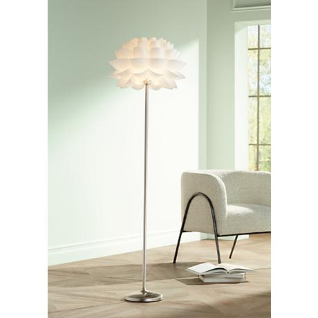 Possini Euro Design White Flower Floor Lamp M4705 Www