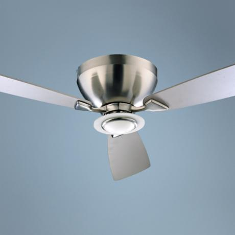 "52"" Nikko Satin Nickel Hugger Ceiling Fan"