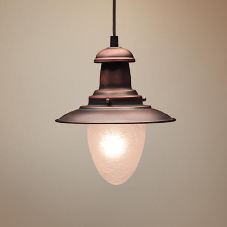 Railroad Collection Antique Copper Finish Pendant Chandelier