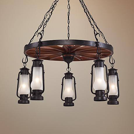 Chapman Collection Matte Black 5-Light Chandelier