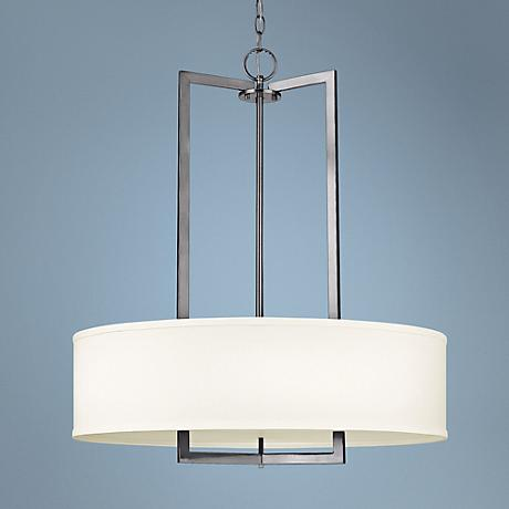 "Hinkley Hampton Collection 26"" Wide Nickel Pendant Light"