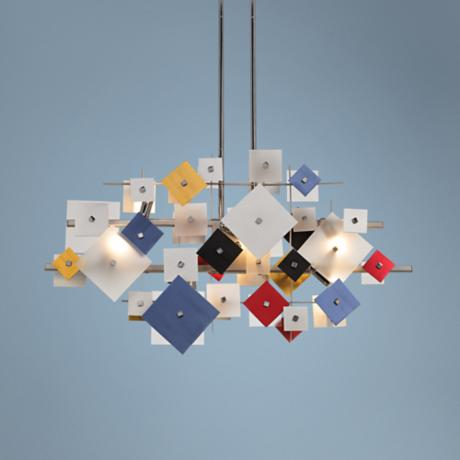 Possini Euro Customizable Squares Pendant Light