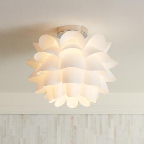 Possini Euro Design White Flower 15 3 4 Quot Wide Ceiling