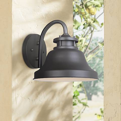 "Bayport Collection Dark Sky 8 1/2"" High Outdoor Wall Light"