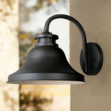 "Bayport Collection Dark Sky 10 1/4"" High Outdoor Wall Light"