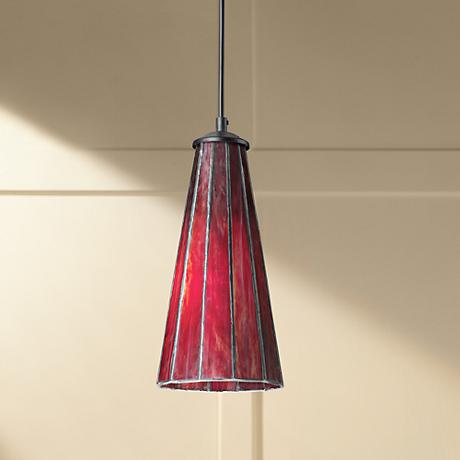 Lumino Inferno Red Tiffany Style Glass Pendant Chandelier
