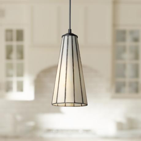 Lumino Comet White Tiffany Style Glass Pendant Chandelier