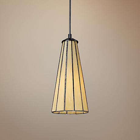 Lumino Hazy Beige Tiffany Style Glass Pendant Chandelier