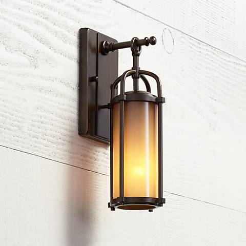 "Feiss Dakota 13 1/4"" High Outdoor Wall Light"