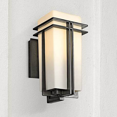 "Tremillo 12"" High Black Outdoor Wall Light"