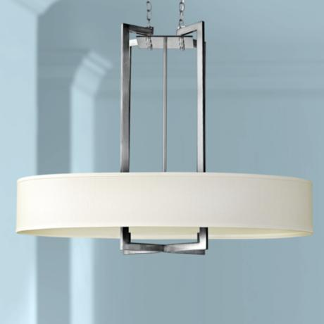 "Hinkley Hampton Collection 40"" Wide Nickel Pendant Light"
