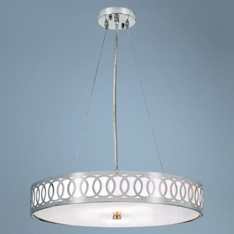 "Contemporary Collection Brushed Nickel 24"" Wide Chandelier"