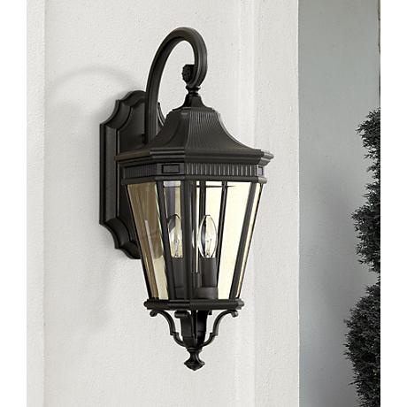 "Feiss Cotswold Lane 20 1/2""H Black Outdoor Wall Light"