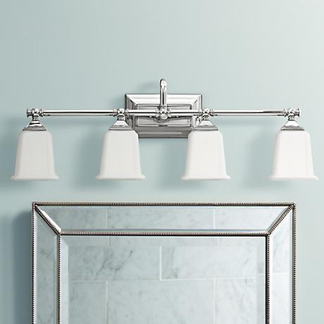Nicholas Collection Polished Chrome 30 1 2 Wide Bath Light M8816 Lamps Plus