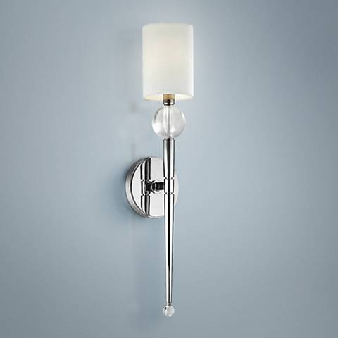 "Hudson Valley Rockland Nickel 20 1/2"" High Wall Sconce"