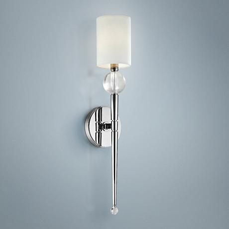 "Hudson Valley Rockland Nickel 21"" High Wall Sconce"