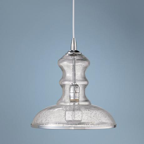 "Jamie Young St Croix Clear Glass 9 3/4"" Wide Pendant  Light"