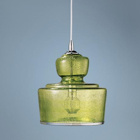"Jamie Young Lafitte Celadon Glass 10"" Wide Pendant Light"