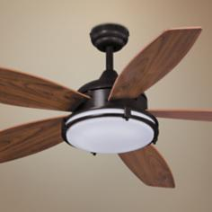 "52"" Taliesim Oil Burnished Bronze Ceiling Fan"