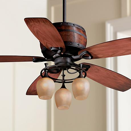 "52"" Cabernet Oil Burnished Bronze Ceiling Fan"