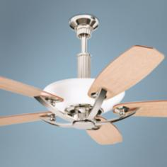 "56"" Kichler Palla Polished Nickel Finish Uplight Ceiling Fan"