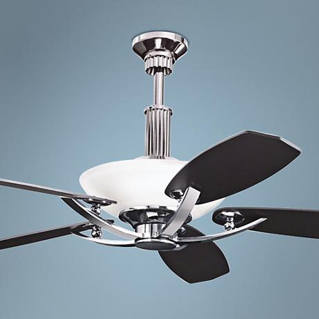 "56"" Kichler Palla Midnight Chrome Finish Ceiling Fan"