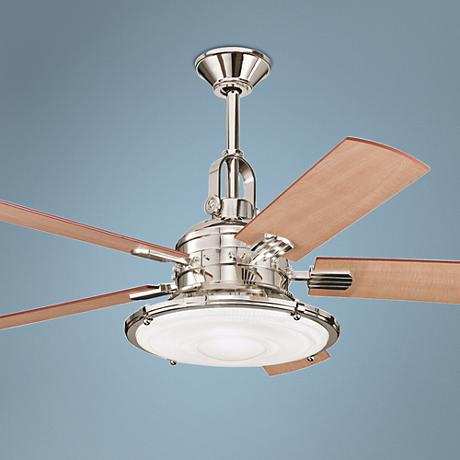 "52"" Kichler Kittery Point Polished Nickel Ceiling Fan"