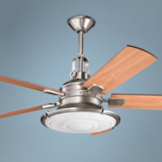 "52"" Kichler Kittery Point Antique Pewter Finish Ceiling Fan"
