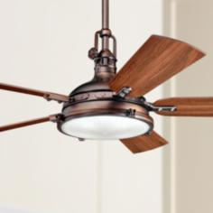"56"" Kichler Hatteras Bay Oiled Burnished Bronze Ceiling Fan"