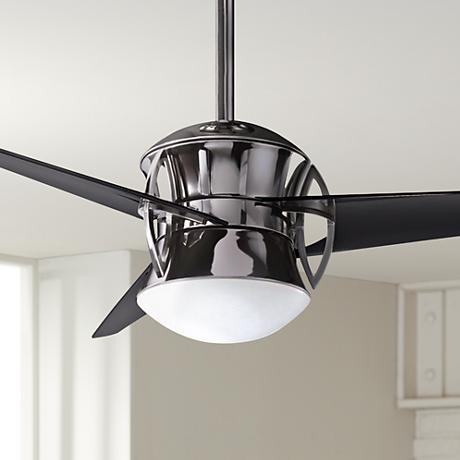 "54"" Kichler Cadence Midnight Chrome Finish Ceiling Fan"