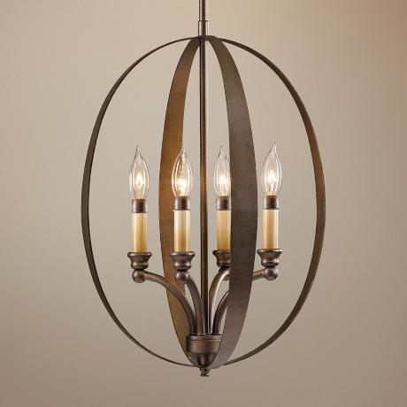 "Murray Feiss Kinsey 15"" Wide 4-Light Pendant Chandelier"