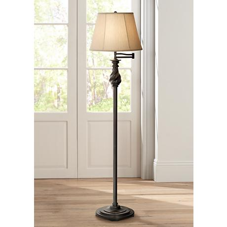 Restoration Bronze Swing Arm Floor Lamp