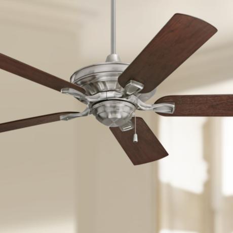 "52"" Emerson Carrera Bella Brushed Steel Ceiling Fan"