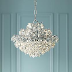 "Vienna Full Spectrum Essa 12""W Chrome - Crystal Mini Pendant"